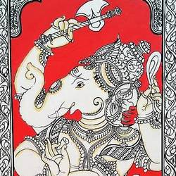 pattachitra/handmade/ old traditional indian art, 6 x 16 inch, preeti  singh,6x16inch,cloth,paintings,folk art paintings,religious paintings,nature paintings | scenery paintings,ganesha paintings | lord ganesh paintings,paintings for dining room,paintings for living room,paintings for bedroom,paintings for office,paintings for bathroom,paintings for kids room,paintings for hotel,paintings for kitchen,paintings for school,paintings for hospital,natural color,GAL03125743856