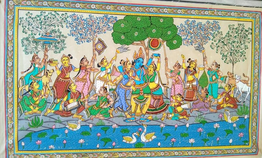 Pattachitra handmade old traditional indian art 2