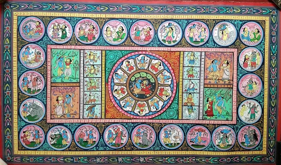 Pattachitra handmade old traditional indian art 3