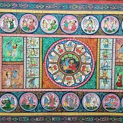 pattachitra/handmade/ old traditional indian art, 40 x 24 inch, preeti  singh,40x24inch,cloth,paintings,folk art paintings,paintings for dining room,paintings for living room,paintings for bedroom,paintings for office,paintings for bathroom,paintings for kids room,paintings for hotel,paintings for kitchen,paintings for school,paintings for hospital,fabric,natural color,GAL03125743858