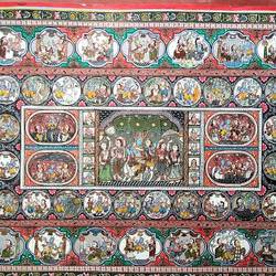 pattachitra/handmade/ old traditional indian art/fine art work, 40 x 24 inch, preeti  singh,40x24inch,cloth,paintings,folk art paintings,paintings for dining room,paintings for living room,paintings for bedroom,paintings for office,paintings for bathroom,paintings for kids room,paintings for hotel,paintings for kitchen,paintings for school,paintings for hospital,fabric,natural color,GAL03125743859