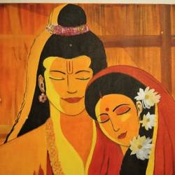 siaram painting, 24 x 18 inch, manjula mair,24x18inch,canvas board,paintings,religious paintings,acrylic color,GAL03022543892