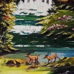 far away there is a place , 16 x 20 inch, diptonil banerjee,16x20inch,canvas,paintings,landscape paintings,nature paintings | scenery paintings,paintings for dining room,oil color,GAL01103243899