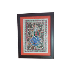 madhubani handmade mithila folk art indian painting., 8 x 11 inch, indeasia  srijan,8x11inch,rice paper,paintings,madhubani paintings | madhubani art,paintings for dining room,paintings for living room,paintings for bedroom,paintings for office,paintings for hotel,acrylic color,ink color,GAL03022943901