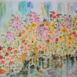 raindrenched, 30 x 22 inch, suchitra lata,30x22inch,thick paper,paintings,abstract paintings,flower paintings,still life paintings,paintings for dining room,paintings for living room,paintings for bedroom,paintings for hotel,paintings for kitchen,watercolor,GAL03140343924