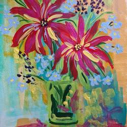 colour cheer, 8 x 11 inch, suchitra lata,8x11inch,brustro watercolor paper,paintings,abstract paintings,flower paintings,still life paintings,pop art paintings,paintings for dining room,paintings for living room,paintings for bedroom,paintings for office,paintings for hotel,paintings for kitchen,paintings for hospital,acrylic color,GAL03140343928