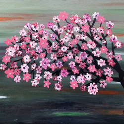 cherry blossom, 36 x 24 inch, dr ritika malhotra,36x24inch,canvas board,flower paintings,nature paintings | scenery paintings,paintings for dining room,paintings for living room,paintings for bedroom,paintings for office,paintings for hotel,paintings for hospital,paintings for dining room,paintings for living room,paintings for bedroom,paintings for office,paintings for hotel,paintings for hospital,acrylic color,GAL03136443954