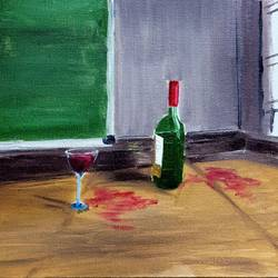 wine, 10 x 12 inch, rushal kadam,10x12inch,canvas,paintings,still life paintings,realism paintings,oil color,GAL03142343967
