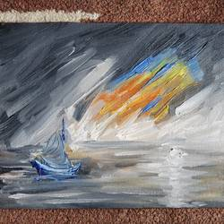 sunshine , 8 x 10 inch, rushal kadam,8x10inch,canvas,conceptual paintings,oil color,GAL03142343968