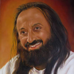 sri sri ravisankar, 20 x 30 inch, dinak divakaran,portrait paintings,paintings for living room,canvas,oil,20x30inch,GAL0229440