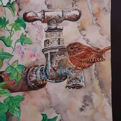 parched, 8 x 11 inch, richu kharwal,8x11inch,brustro watercolor paper,paintings,wildlife paintings,paintings for dining room,watercolor,GAL03093844003