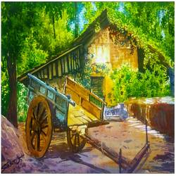 village, 16 x 11 inch, santosh loni,16x11inch,handmade paper,paintings,abstract paintings,buddha paintings,wildlife paintings,figurative paintings,flower paintings,folk art paintings,foil paintings,landscape paintings,modern art paintings,conceptual paintings,religious paintings,still life paintings,portrait paintings,nature paintings | scenery paintings,tanjore paintings,abstract expressionism paintings,art deco paintings,cubism paintings,dada paintings,expressionism paintings,illustration paintings,impressionist paintings,minimalist paintings,photorealism,pop art paintings,portraiture,realism paintings,street art,surrealism paintings,animal paintings,radha krishna paintings,contemporary paintings,realistic paintings,love paintings,mother teresa paintings,paintings for dining room,paintings for living room,paintings for bedroom,paintings for office,paintings for bathroom,paintings for kids room,paintings for hotel,paintings for kitchen,paintings for school,paintings for hospital,watercolor,GAL03147144022