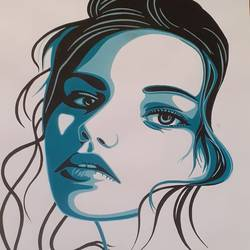 lady potrait, 22 x 30 inch, rushikesh goswami,22x30inch,thick paper,portrait paintings,poster color,GAL03148144042