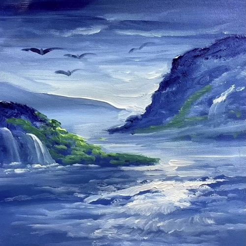 heaven scenery-03 (artoholic), 24 x 24 inch, artoholic p,24x24inch,canvas,paintings,landscape paintings,nature paintings | scenery paintings,art deco paintings,cubism paintings,expressionism paintings,impressionist paintings,photorealism paintings,realism paintings,realistic paintings,love paintings,water fountain paintings,paintings for dining room,paintings for living room,paintings for bedroom,paintings for office,paintings for bathroom,paintings for kids room,paintings for hotel,paintings for kitchen,paintings for school,paintings for hospital,acrylic color,GAL02078844067