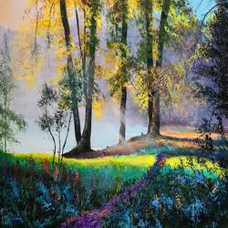 beautiful nature, 24 x 18 inch, akrosh saxena,24x18inch,canvas,paintings,flower paintings,landscape paintings,acrylic color,GAL03151244092