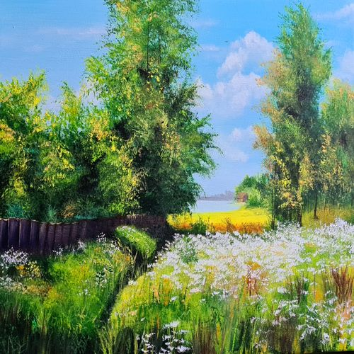beautiful nature, 20 x 16 inch, akrosh saxena,20x16inch,canvas,paintings,landscape paintings,nature paintings   scenery paintings,acrylic color,GAL03151244102