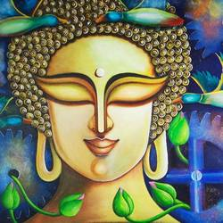 hara gouri 2, 48 x 24 inch, susmita mandal,48x24inch,canvas,paintings,figurative paintings,paintings for living room,paintings for bedroom,paintings for hotel,acrylic color,GAL01940544116