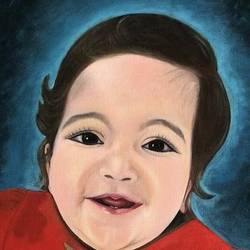 portrait of a baby, 32 x 23 inch, anamika rana,32x23inch,canvas,paintings,figurative paintings,portrait paintings,expressionism paintings,impressionist paintings,minimalist paintings,photorealism paintings,photorealism,portraiture,realism paintings,love paintings,baby paintings,children paintings,kids paintings,paintings for dining room,paintings for living room,paintings for bedroom,paintings for office,paintings for bathroom,paintings for kids room,paintings for hotel,paintings for school,paintings for hospital,paintings for dining room,paintings for living room,paintings for bedroom,paintings for office,paintings for bathroom,paintings for kids room,paintings for hotel,paintings for school,paintings for hospital,oil color,GAL02955744122