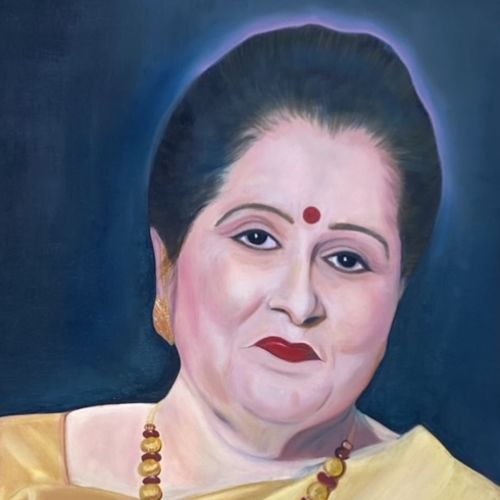 portrait of a lady, 38 x 25 inch, anamika rana,38x25inch,canvas,paintings,figurative paintings,expressionism paintings,impressionist paintings,photorealism paintings,photorealism,portraiture,realism paintings,surrealism paintings,love paintings,paintings for dining room,paintings for living room,paintings for bedroom,paintings for office,paintings for hotel,paintings for school,oil color,GAL02955744126