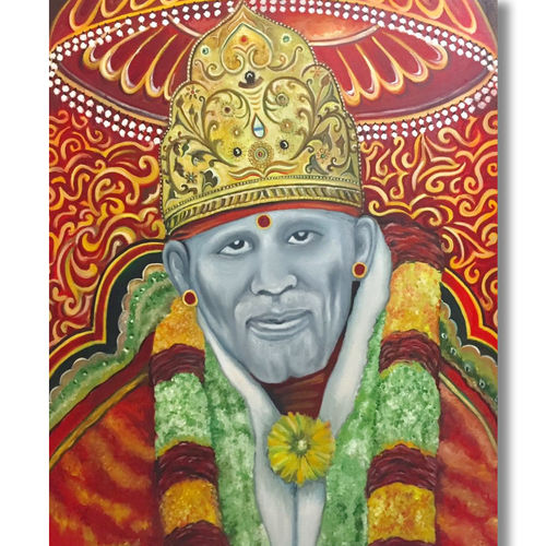 shirdi sai baba, 34 x 45 inch, akash bhisikar,34x45inch,canvas,paintings,abstract paintings,buddha paintings,folk art paintings,modern art paintings,religious paintings,portrait paintings,abstract expressionism paintings,art deco paintings,photorealism paintings,photorealism,ganesha paintings | lord ganesh paintings,radha krishna paintings,realistic paintings,paintings for dining room,paintings for living room,paintings for bedroom,paintings for office,paintings for kids room,paintings for hotel,paintings for kitchen,paintings for school,paintings for hospital,oil color,GAL01828644133