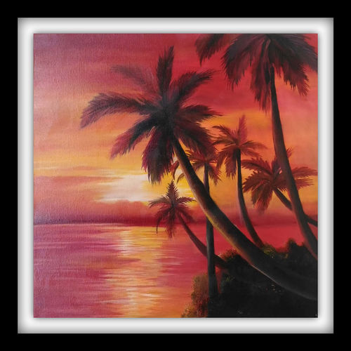 beauty of  sunrise, 18 x 18 inch, ayushi jain,18x18inch,canvas,landscape paintings,nature paintings   scenery paintings,paintings for living room,paintings for bedroom,paintings for office,paintings for hotel,paintings for school,paintings for hospital,paintings for living room,paintings for bedroom,paintings for office,paintings for hotel,paintings for school,paintings for hospital,oil color,GAL0940844146