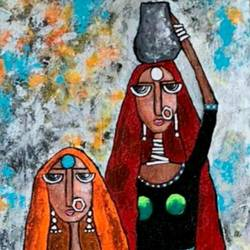 indian contemporary art, 12 x 36 inch, nidhi gupta,12x36inch,canvas,paintings,abstract paintings,contemporary paintings,paintings for dining room,paintings for living room,paintings for bedroom,paintings for office,paintings for bathroom,paintings for kids room,paintings for hotel,paintings for kitchen,paintings for school,paintings for hospital,acrylic color,GAL02487944161