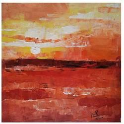 sunset, 12 x 12 inch, mahesh  giri,12x12inch,canvas,paintings,abstract paintings,landscape paintings,impressionist paintings,paintings for dining room,paintings for living room,paintings for bedroom,paintings for hotel,acrylic color,GAL03154244171