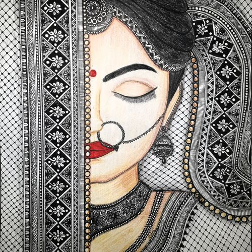 mandala bride, 10 x 11 inch, garima agrawal,10x11inch,canvas,paintings,abstract paintings,buddha paintings,wildlife paintings,figurative paintings,flower paintings,folk art paintings,foil paintings,cityscape paintings,landscape paintings,modern art paintings,multi piece paintings,conceptual paintings,religious paintings,still life paintings,nature paintings | scenery paintings,tanjore paintings,abstract expressionism paintings,art deco paintings,cubism paintings,dada paintings,expressionism paintings,illustration paintings,impressionist paintings,minimalist paintings,photorealism paintings,photorealism,pop art paintings,portraiture,realism paintings,street art,surrealism paintings,ganesha paintings | lord ganesh paintings,animal paintings,radha krishna paintings,contemporary paintings,realistic paintings,love paintings,horse paintings,mother teresa paintings,dog painting,elephant paintings,water fountain paintings,baby paintings,children paintings,kids paintings,islamic calligraphy paintings,madhubani paintings | madhubani art,warli paintings,lord shiva paintings,kalighat painting,phad painting,kalamkari painting,miniature painting.,gond painting.,kerala murals painting,serigraph paintings,paintings for dining room,paintings for living room,paintings for bedroom,paintings for office,paintings for bathroom,paintings for kids room,paintings for hotel,paintings for kitchen,paintings for school,paintings for hospital,ink color,mixed media,pen color,pencil color,photo ink,ball point pen,paper,GAL03139744179