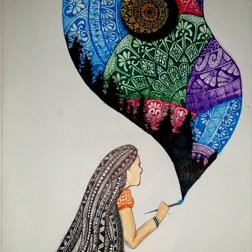 a beautiful work to calm your mind, 10 x 13 inch, garima agrawal,10x13inch,drawing paper,paintings,abstract paintings,buddha paintings,wildlife paintings,figurative paintings,flower paintings,folk art paintings,foil paintings,cityscape paintings,landscape paintings,modern art paintings,multi piece paintings,conceptual paintings,religious paintings,still life paintings,portrait paintings,nature paintings | scenery paintings,tanjore paintings,abstract expressionism paintings,art deco paintings,cubism paintings,dada paintings,expressionism paintings,illustration paintings,impressionist paintings,minimalist paintings,photorealism paintings,photorealism,pop art paintings,portraiture,realism paintings,street art,surrealism paintings,ganesha paintings | lord ganesh paintings,animal paintings,radha krishna paintings,contemporary paintings,realistic paintings,love paintings,horse paintings,mother teresa paintings,dog painting,elephant paintings,water fountain paintings,baby paintings,children paintings,kids paintings,islamic calligraphy paintings,madhubani paintings | madhubani art,warli paintings,lord shiva paintings,kalighat painting,phad painting,kalamkari painting,miniature painting.,gond painting.,kerala murals painting,serigraph paintings,paintings for dining room,paintings for living room,paintings for bedroom,paintings for office,paintings for bathroom,paintings for kids room,paintings for hotel,paintings for kitchen,paintings for school,paintings for hospital,charcoal,ink color,mixed media,pen color,pencil color,photo ink,ball point pen,graphite pencil,paper,GAL03139744183