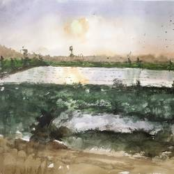 sunshine, 22 x 13 inch, soyli saha,22x13inch,thick paper,paintings,nature paintings | scenery paintings,paintings for dining room,paintings for living room,paintings for bedroom,paintings for office,paintings for bathroom,paintings for kids room,paintings for hotel,paintings for kitchen,paintings for school,paintings for hospital,watercolor,GAL0606544200