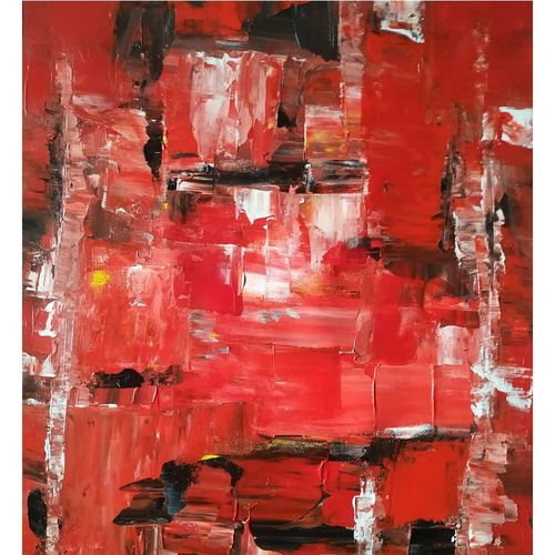 bar- the red interior, 16 x 20 inch, mahesh  giri,16x20inch,canvas,paintings,abstract paintings,modern art paintings,abstract expressionism paintings,cubism paintings,paintings for living room,paintings for hotel,acrylic color,GAL03154244211