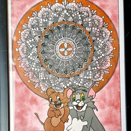 tom and jerry mandala, 8 x 11 inch, swati agarwal,8x11inch,canson paper,paintings,landscape paintings,expressionism paintings,children paintings,kids paintings,paintings for dining room,paintings for living room,paintings for bedroom,paintings for office,paintings for bathroom,paintings for kids room,paintings for hotel,paintings for kitchen,paintings for school,paintings for hospital,paintings for dining room,paintings for living room,paintings for bedroom,paintings for office,paintings for bathroom,paintings for kids room,paintings for hotel,paintings for kitchen,paintings for school,paintings for hospital,acrylic color,pen color,watercolor,GAL03159144233