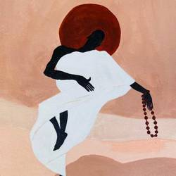 dancing monk, 12 x 17 inch, ashwini kolkondi,12x17inch,canvas,paintings,abstract paintings,paintings for dining room,paintings for living room,acrylic color,GAL03119544254