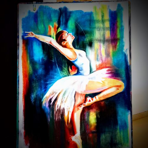 ballerina, 28 x 36 inch, sneha subramanian,28x36inch,thick paper,paintings,contemporary paintings,paintings for living room,paintings for office,paintings for hotel,pastel color,GAL03162944263