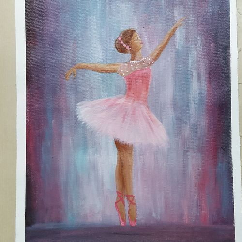 ballerina, 12 x 16 inch, kalpana manohar,12x16inch,canvas,paintings,abstract paintings,figurative paintings,paintings for dining room,paintings for living room,paintings for bedroom,paintings for office,paintings for dining room,paintings for living room,paintings for bedroom,paintings for office,acrylic color,GAL03130044270