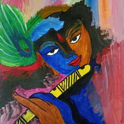 lord krishna , 12 x 16 inch, vishal singh,12x16inch,canvas,paintings,abstract paintings,figurative paintings,abstract expressionism paintings,expressionism paintings,radha krishna paintings,acrylic color,GAL02764344304