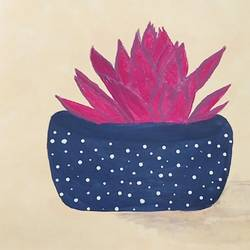 magenta succulent, 8 x 10 inch, vanitha raj k c,8x10inch,thick paper,paintings,nature paintings | scenery paintings,minimalist paintings,paintings for dining room,paintings for living room,paintings for bedroom,paintings for office,paintings for bathroom,paintings for kids room,paintings for hotel,paintings for kitchen,paintings for school,paintings for hospital,acrylic color,GAL03168844311