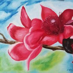 flower, 16 x 12 inch, sanjay bhagwat,16x12inch,canvas,paintings,flower paintings,oil color,GAL03142444314