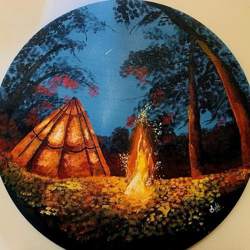 camping in forest, 30 x 30 inch, subi  kumari,30x30inch,canvas,landscape paintings,nature paintings | scenery paintings,art deco paintings,surrealism paintings,realistic paintings,paintings for dining room,paintings for living room,paintings for bedroom,paintings for office,paintings for hotel,paintings for school,paintings for hospital,paintings for dining room,paintings for living room,paintings for bedroom,paintings for office,paintings for hotel,paintings for school,paintings for hospital,acrylic color,GAL02433444352