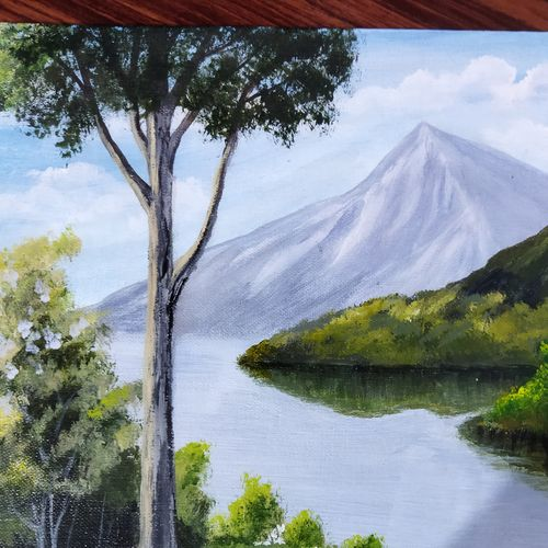 serenity, 16 x 12 inch, kauser ansari,16x12inch,canvas board,paintings,landscape paintings,nature paintings | scenery paintings,acrylic color,GAL03172944359