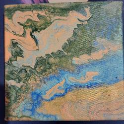 earth's topography, 3 x 3 inch, akanksha puprediwar,3x3inch,canvas,abstract paintings,paintings for bedroom,paintings for office,paintings for school,paintings for bedroom,paintings for office,paintings for school,acrylic color,GAL03173944377