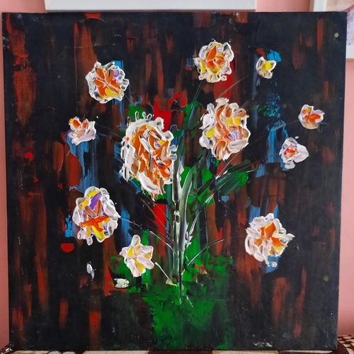 life in darkness, 18 x 18 inch, akanksha puprediwar,18x18inch,canvas board,paintings,abstract paintings,paintings for dining room,paintings for living room,paintings for office,paintings for hotel,acrylic color,GAL03173944381