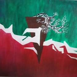 hidden, 24 x 18 inch, guru charan,abstract paintings,paintings for living room,canvas,acrylic color,24x18inch,GAL0237444