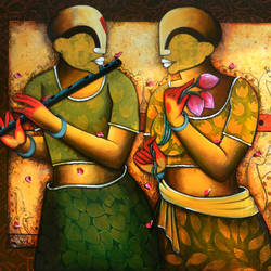 rhythmic reverberations , 66 x 36 inch, anupam  pal,66x36inch,canvas,paintings,abstract paintings,wildlife paintings,flower paintings,paintings for dining room,paintings for living room,paintings for bedroom,paintings for office,paintings for bathroom,paintings for kids room,paintings for hotel,paintings for kitchen,paintings for school,paintings for hospital,acrylic color,GAL08244400