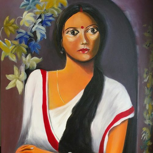 arrogance, 30 x 36 inch, sayantan  ghati ,figurative paintings,paintings for living room,canvas,acrylic color,30x36inch,GAL07704441