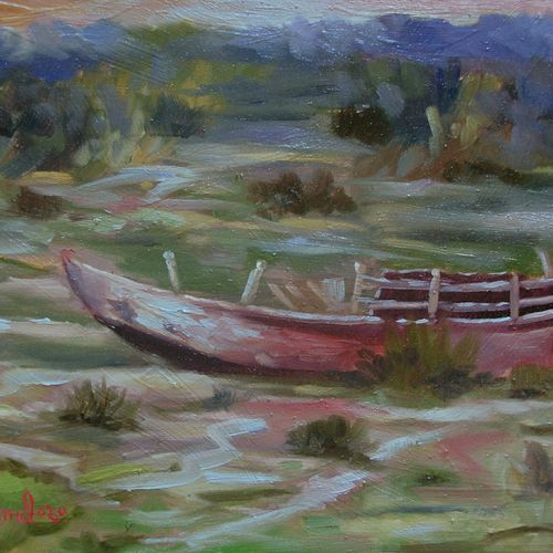 a boat besides yamuna river, 16 x 12 inch, kunal pal,16x12inch,hardboard,paintings,landscape paintings,still life paintings,nature paintings | scenery paintings,expressionism paintings,impressionist paintings,realism paintings,contemporary paintings,realistic paintings,paintings for dining room,paintings for living room,paintings for bedroom,paintings for office,paintings for bathroom,paintings for kids room,paintings for hotel,paintings for kitchen,paintings for school,paintings for hospital,oil color,GAL0905444417