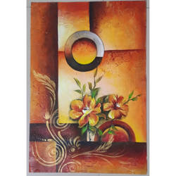 flowers: abstract art, 16 x 23 inch, smitha mutta,16x23inch,brustro watercolor paper,paintings,flower paintings,acrylic color,paper,GAL03177544437
