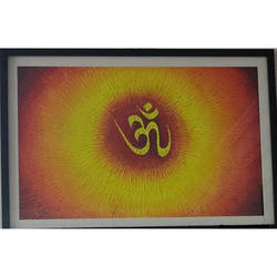aum : symbol art, 16 x 23 inch, smitha mutta,16x23inch,brustro watercolor paper,paintings,religious paintings,acrylic color,paper,GAL03177544439