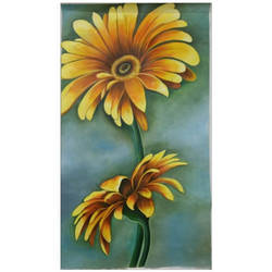beauty of sunflower, 25 x 45 inch, smitha mutta,25x45inch,canvas,paintings,flower paintings,acrylic color,GAL03177544441