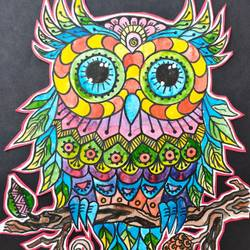 colourful owl, 9 x 12 inch, kanchi jain,9x12inch,ivory sheet,wildlife paintings,figurative paintings,modern art paintings,conceptual paintings,pop art paintings,surrealism paintings,animal paintings,contemporary paintings,paintings for dining room,paintings for living room,paintings for office,paintings for hotel,paintings for school,paintings for dining room,paintings for living room,paintings for office,paintings for hotel,paintings for school,pen color,watercolor,paper,GAL03122044450